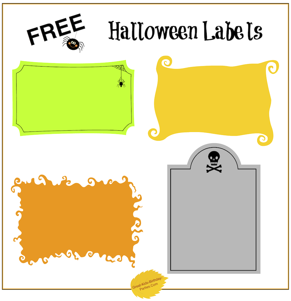 image about Printable Halloween Birthday Invitations named Free of charge Halloween Printables