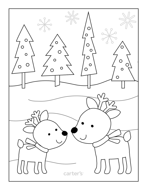 reindeer coloring page