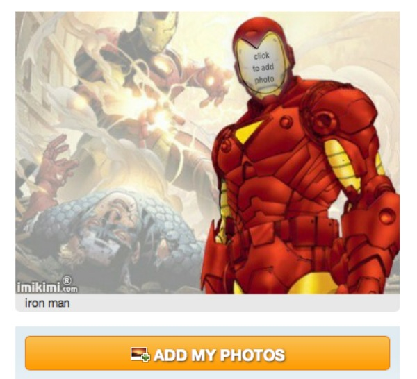 Iron man invitations iron man character invitations once there your screen should look like the image below click on add my photos which will take you to where your filmwisefo