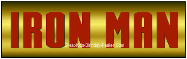IRON MAN Font - FREE Download - Make invitations, party labels, stickers, water bottle labels and lots more!