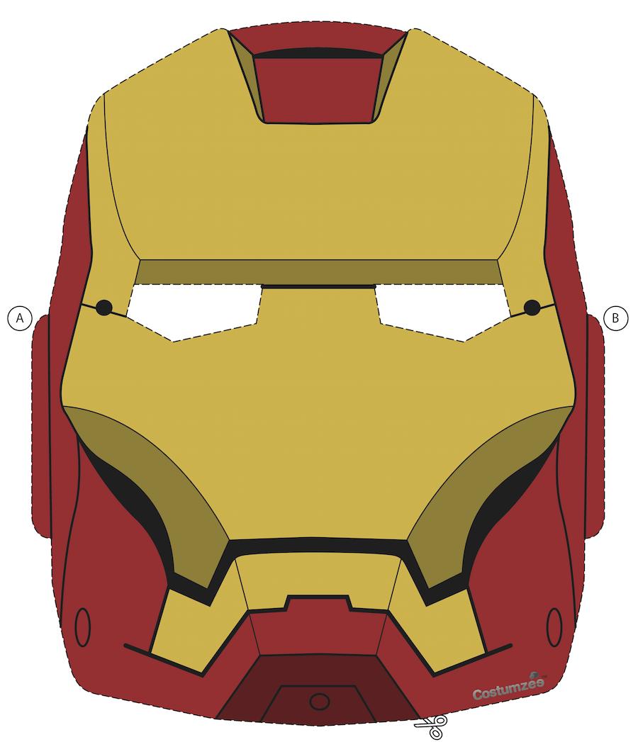 Superb image in iron man mask printable