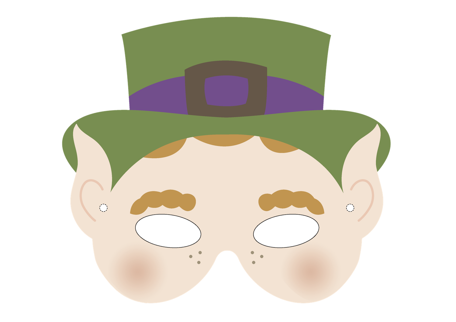 Free Printable Leprechaun Masks