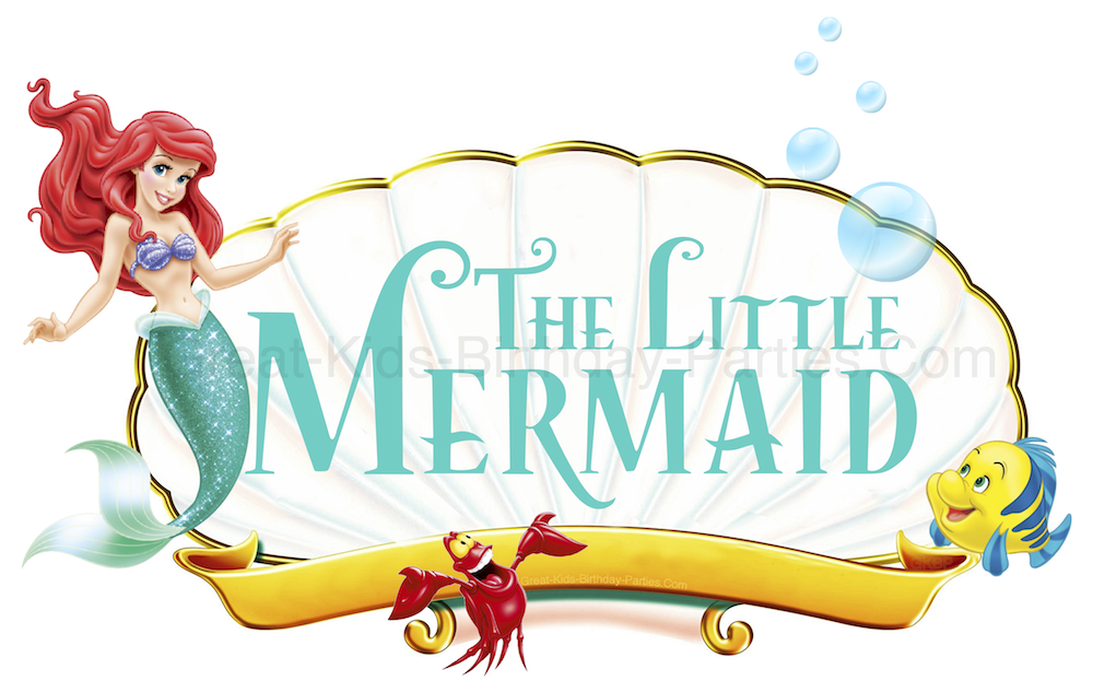 Download your free Little Mermaid Font at KidsPartyWorks.Com