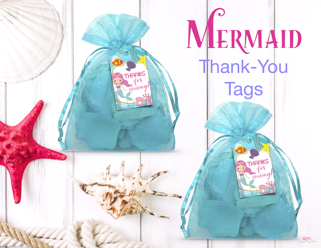 Mermaid Thank-You Tags