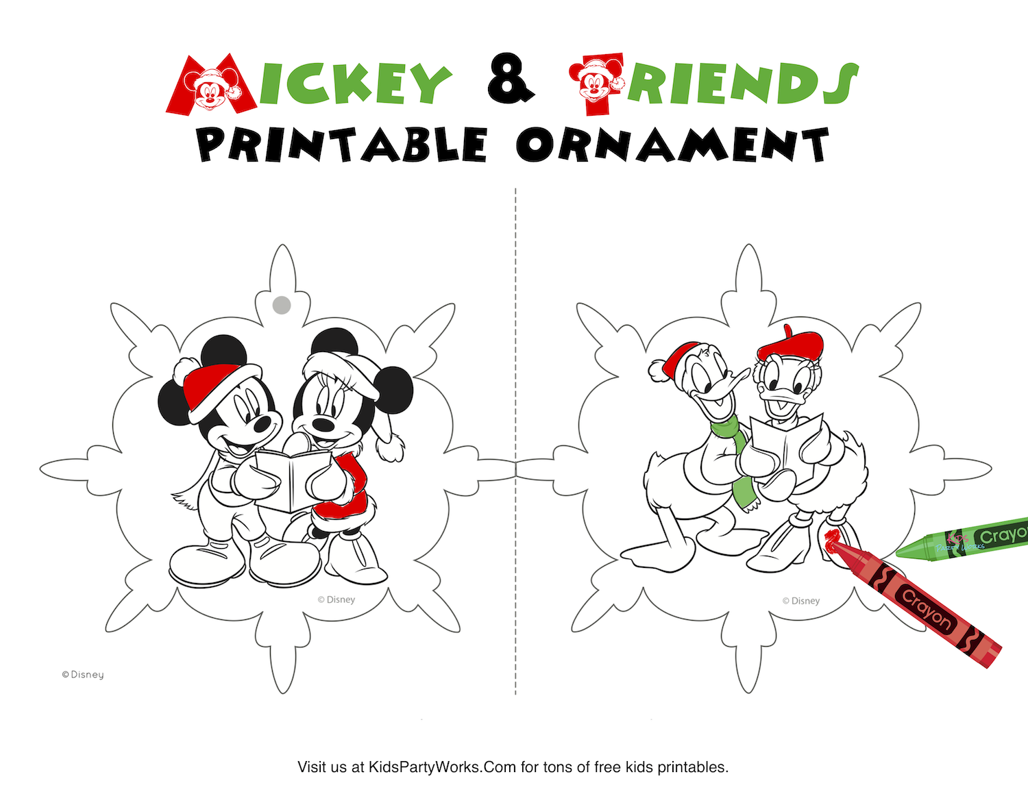 mickey christmas ornament