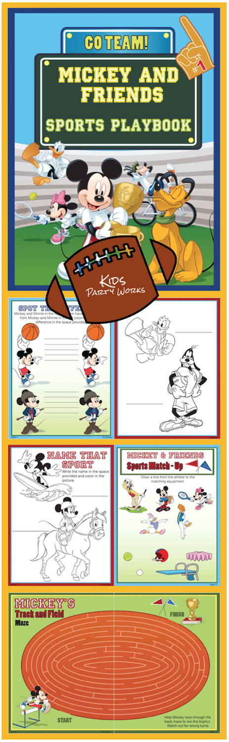 Disney printable, mickey printable, Disney sports printable, printable activity, mickey coloring pages
