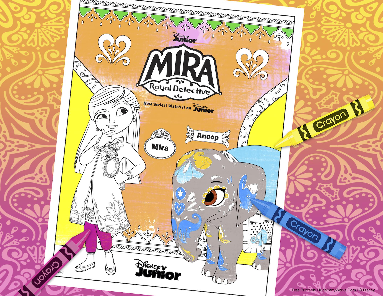 mira royal detective coloring pages