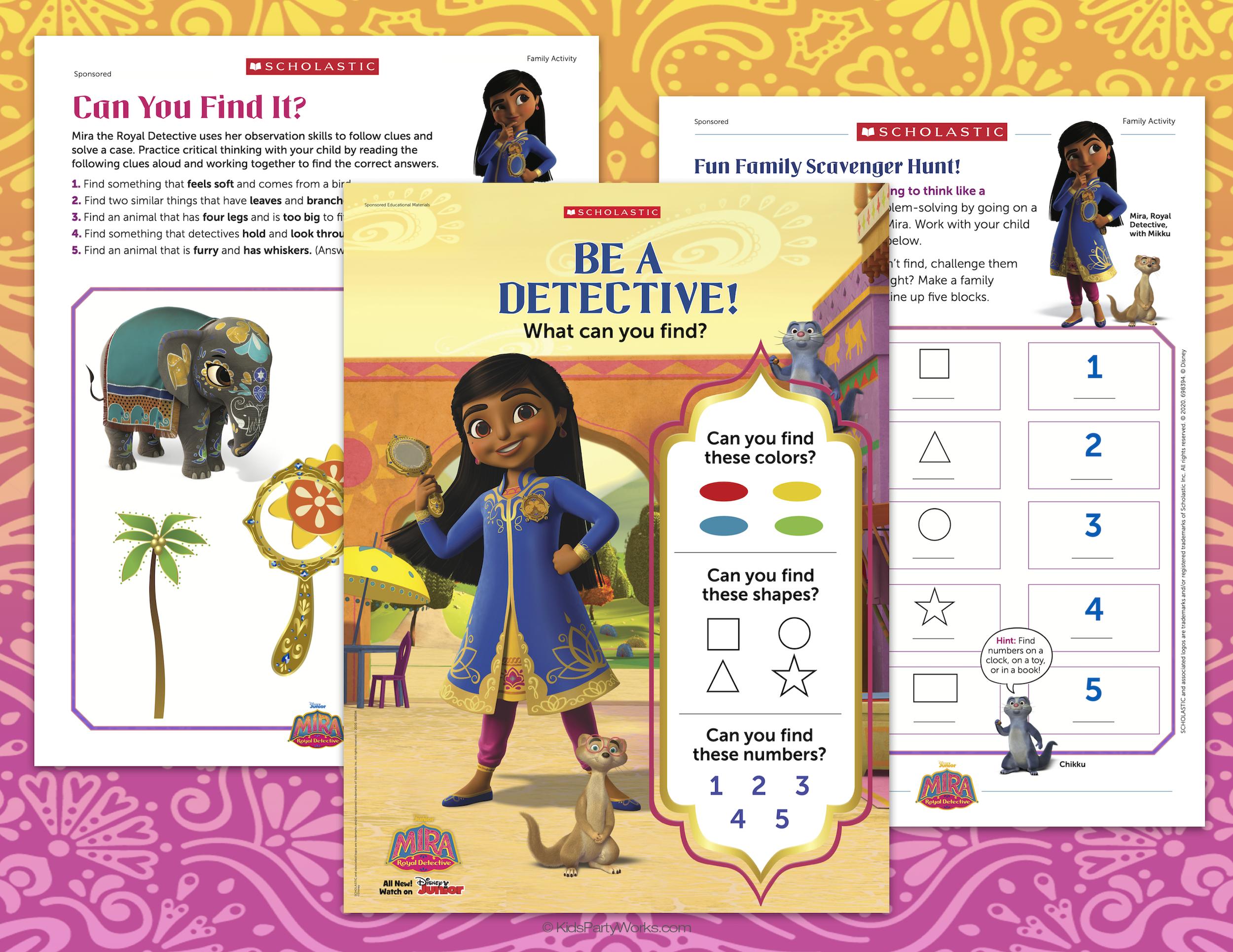 Mira Royal Detective printable
