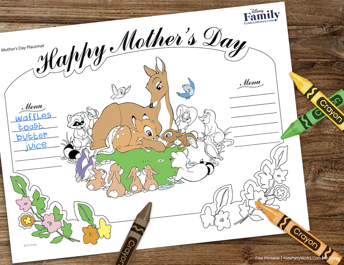 Free Mother's Day Coloring Page