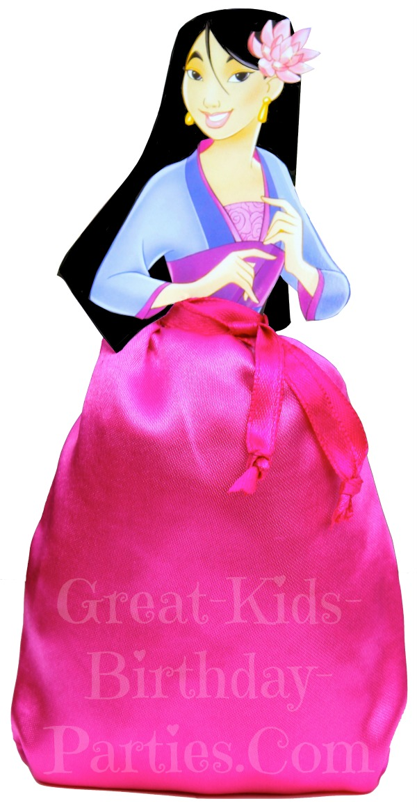 DIY Disney Princess Party Favors - Mulan Favor Bags