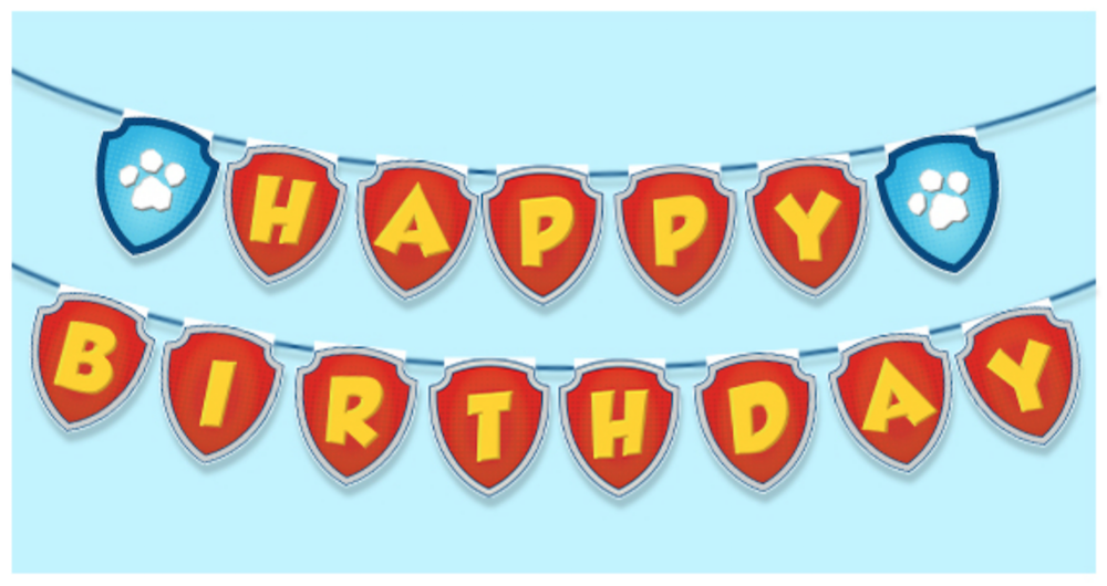 image regarding Paw Patrol Printable Decorations titled Paw Patrol Birthday