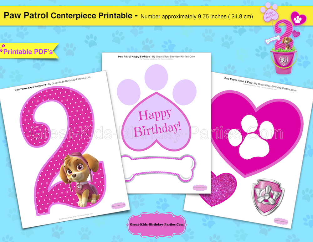 image regarding Free Printable Paw Patrol Badges titled Paw Patrol Birthday