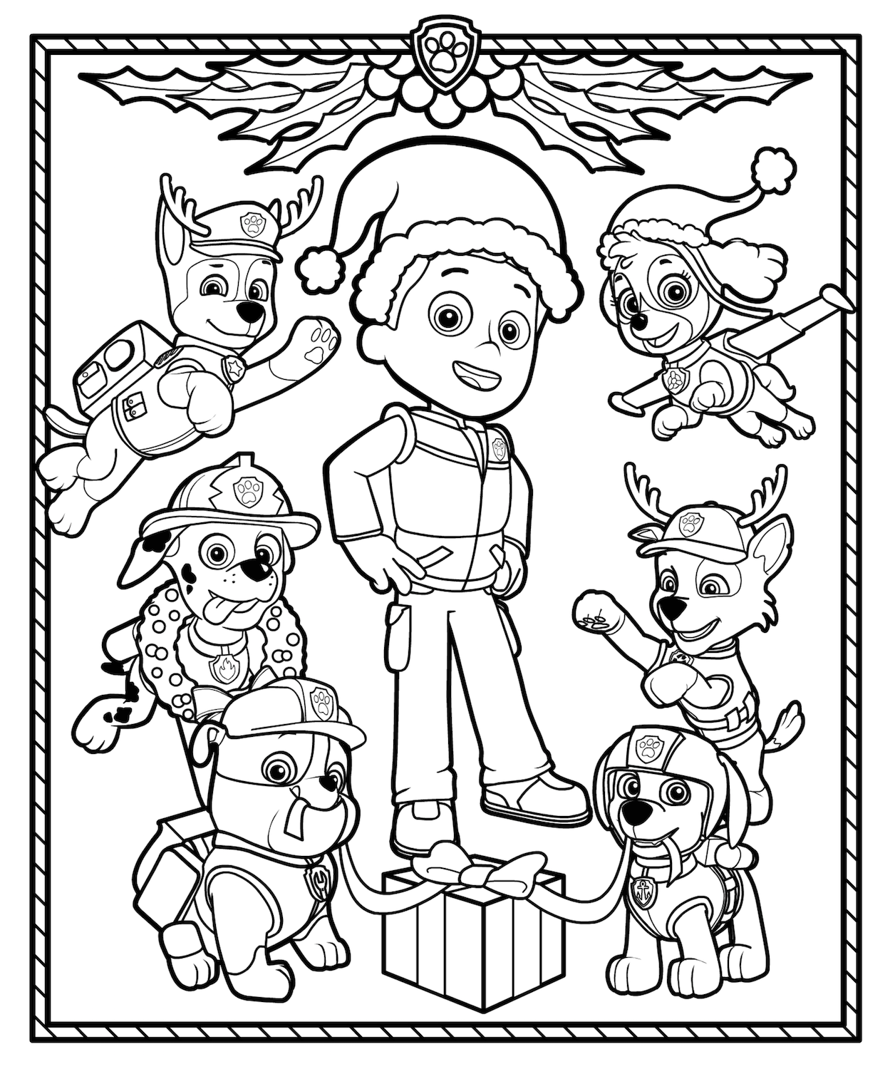 You Can Download The Tracker Christmas Coloring Page By Right Clicking Your Mouse And Saving It To Computer Have A Paw Some Holiday