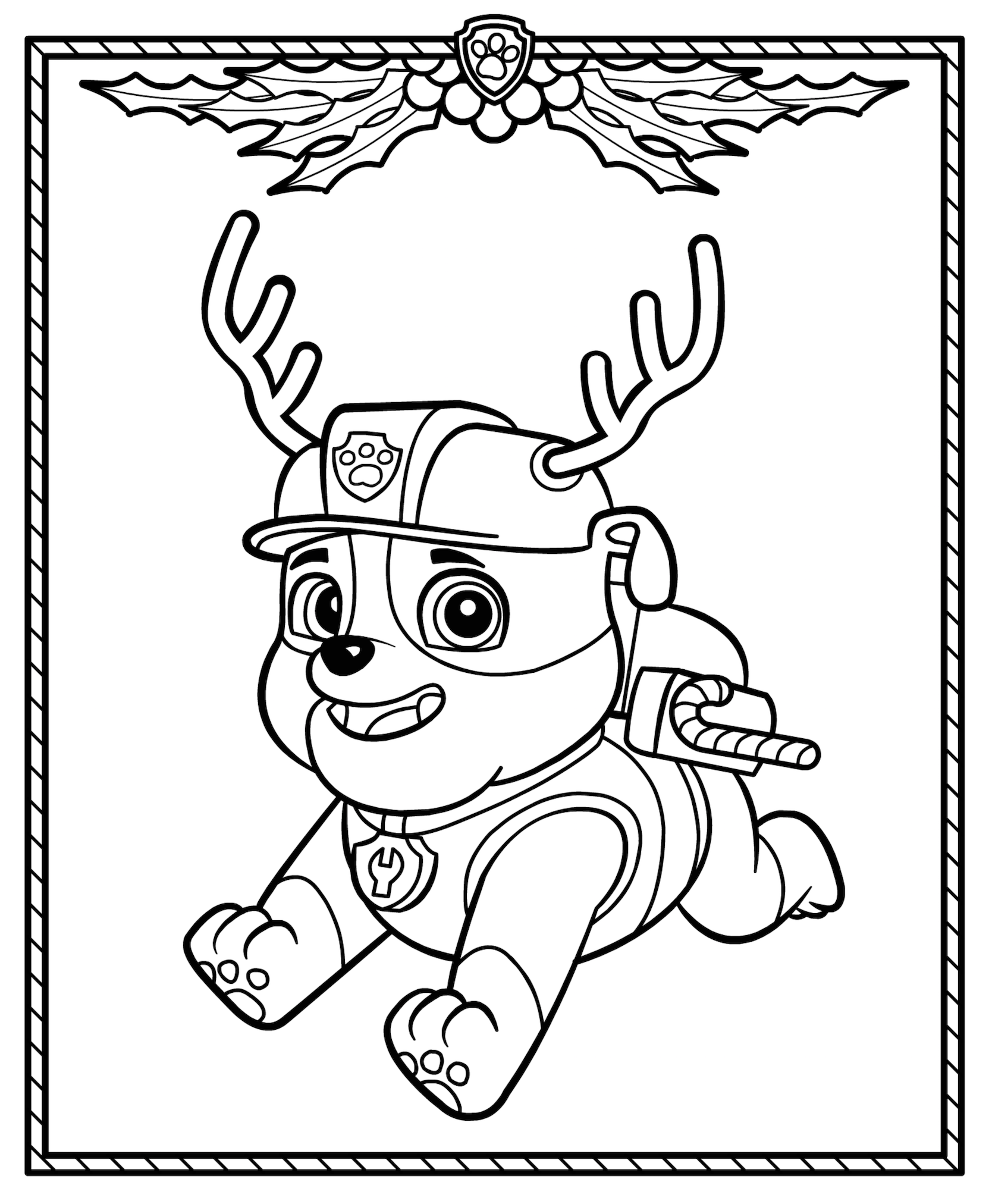 Free Paw Patrol Christmas coloring pages