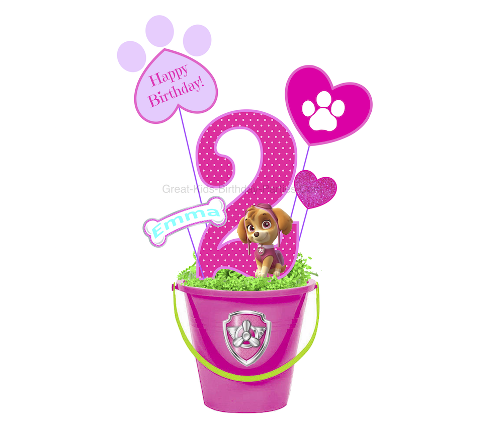 We Made This Skye Centerpiece Graphic To Show You An Idea For A Paw Patrol Birthday Party These Would Look Pretty As Centerpieces Or Decoration