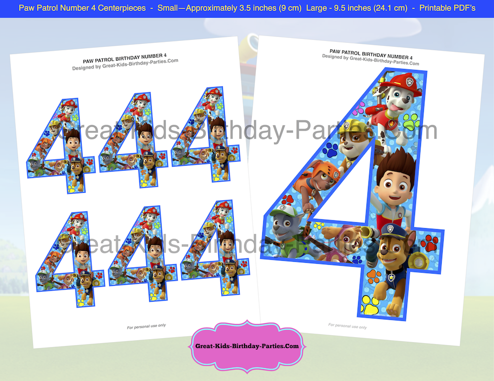 Visit Us At Our Brand New Online Etsy Store For Details To Paw Patrol Centerpiece Birthday Numbers