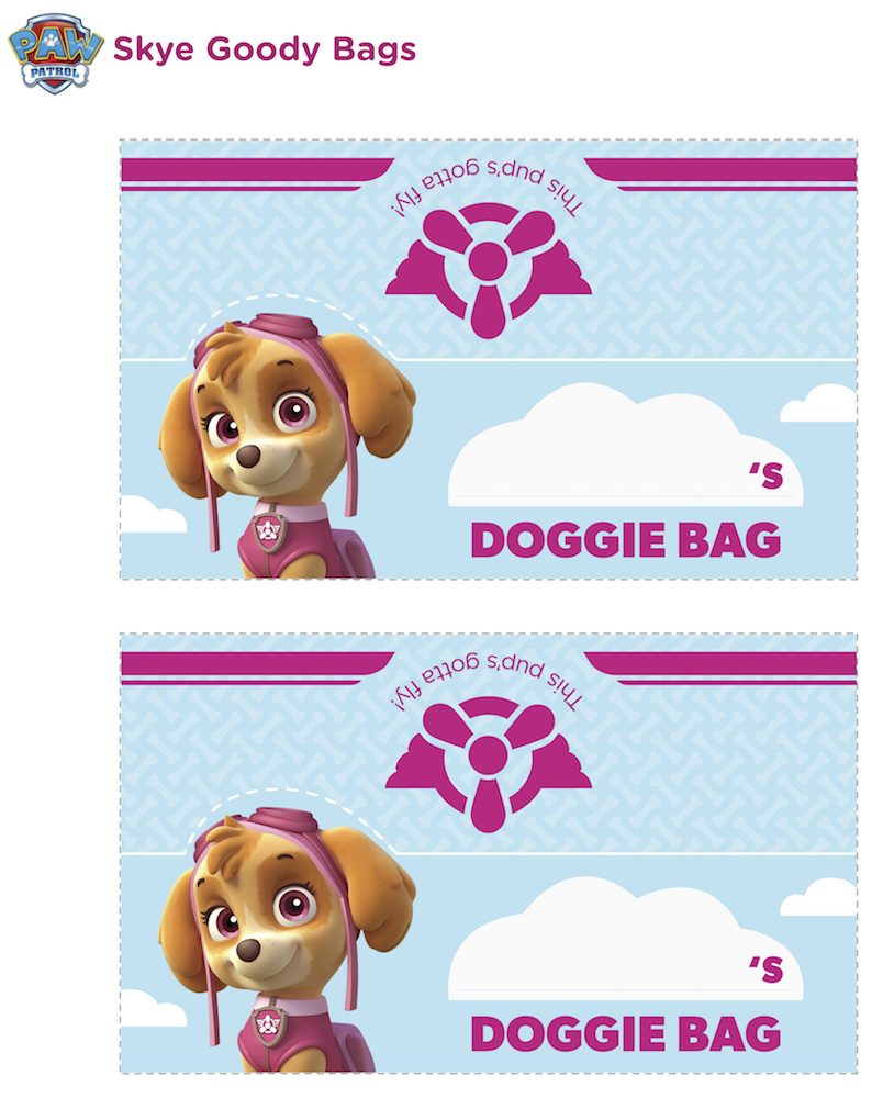 Paw Patrol Doggie Bag Toppers