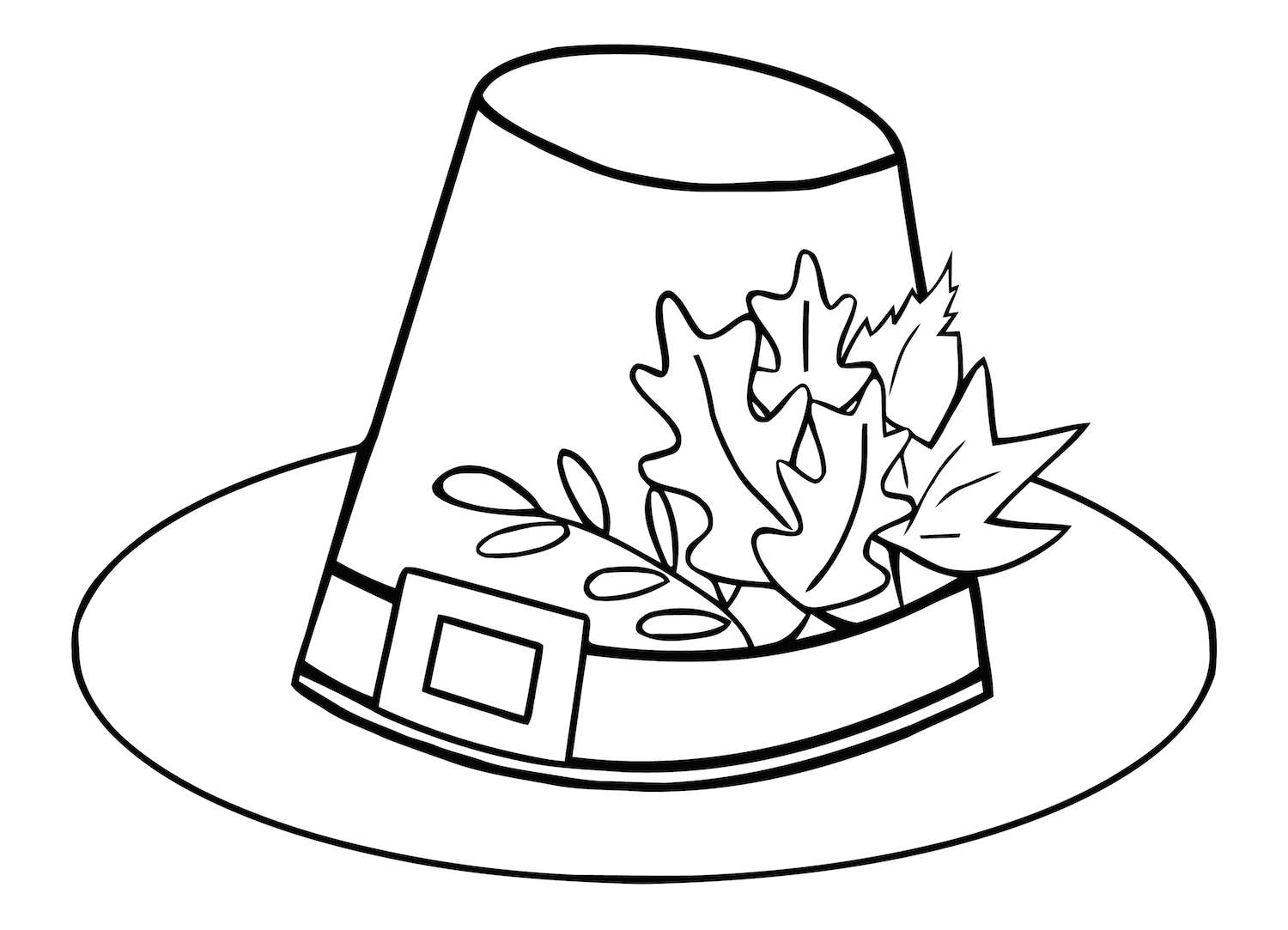 Free Thanksgiving Hat Coloring Pages at KidsPartyWorks.Com