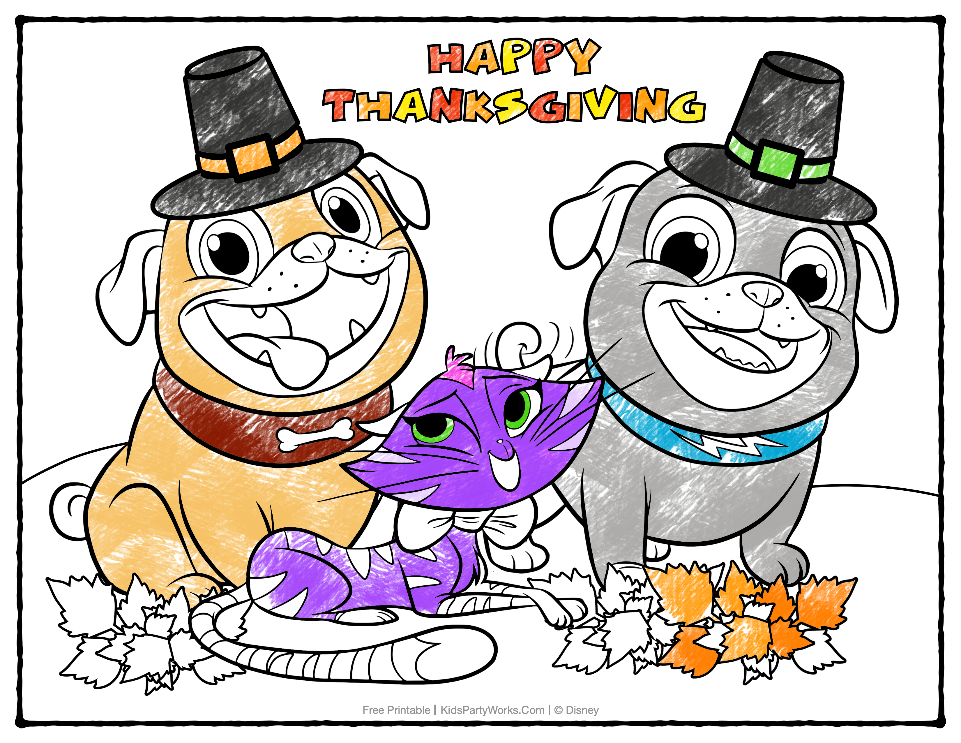 Free Puppy Dog Pals Coloring Page at KidsPartyWorks.Com