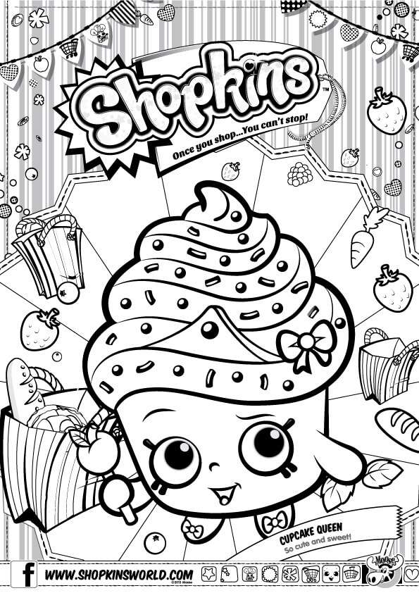 graphic regarding Shopkins Season 3 List Printable named Shopkins Coloring Web pages