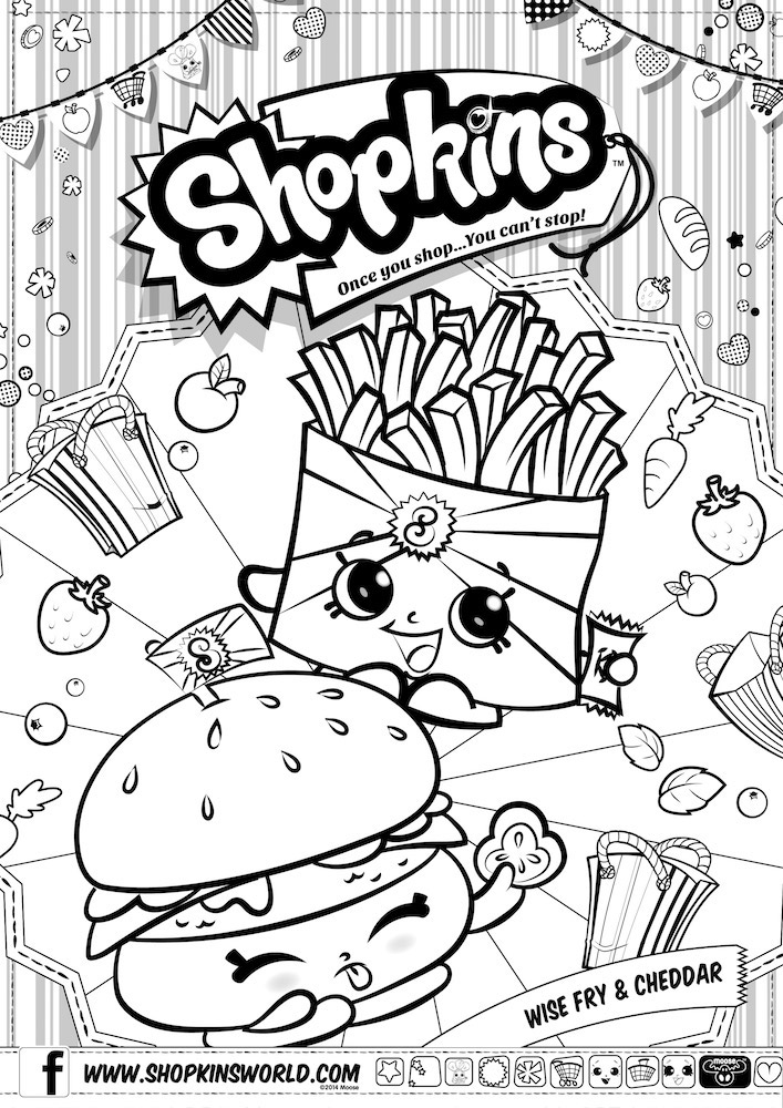 Shopkins Images For Coloring | Haramiran | 1000x707