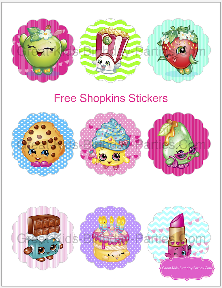 photo about Free Printable Shopkins Invitations named Shopkins Birthday Get together