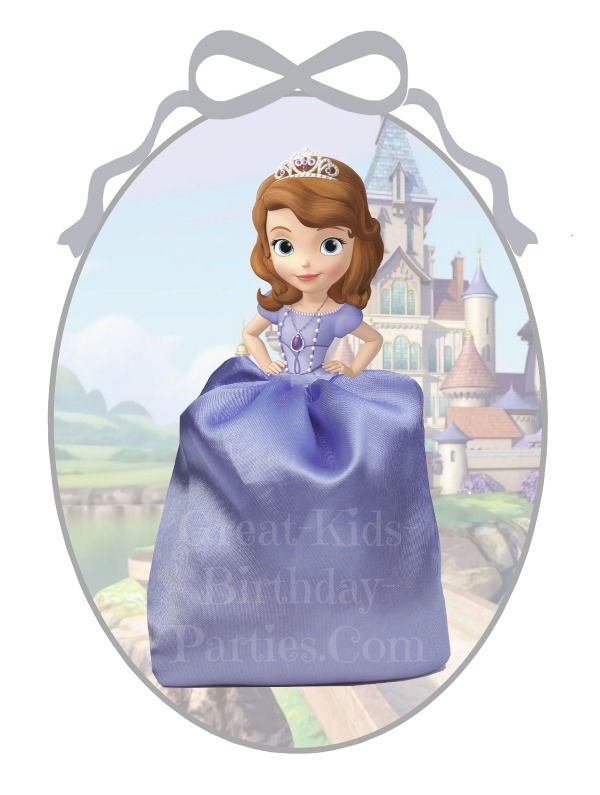 DIY Disney Princess Party Favors - Sofia the First Favor Bags