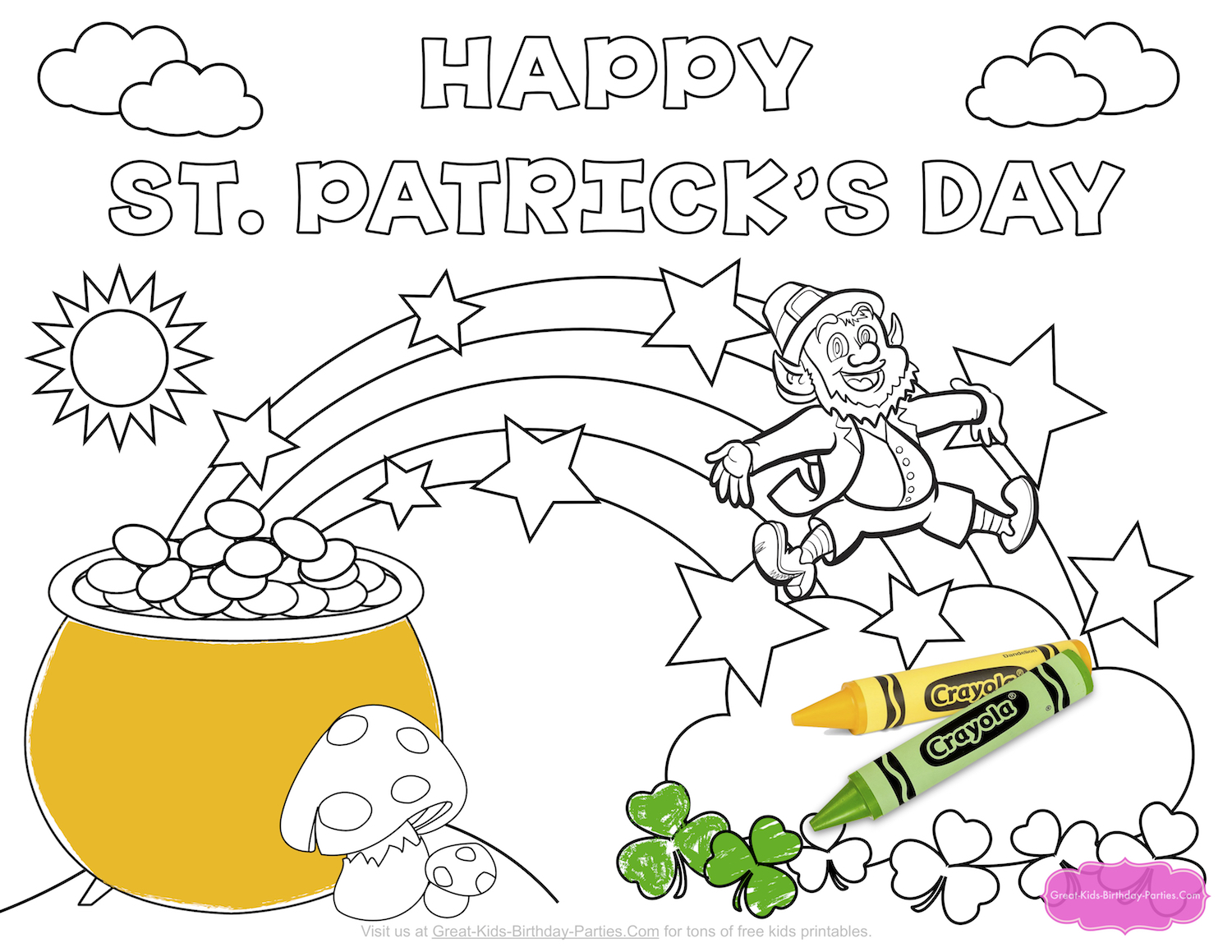 Get Luck This St Patricks Day With All Our Fun Printables Visit Page To Download The Coloring Below And Lots More