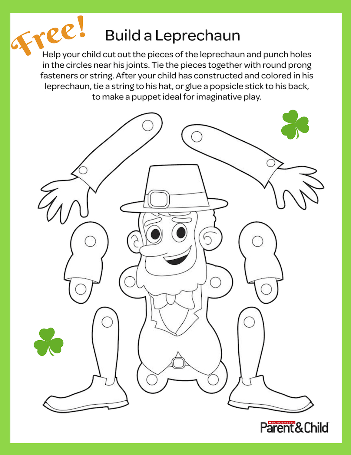 Free Printable Leprechaun Craft