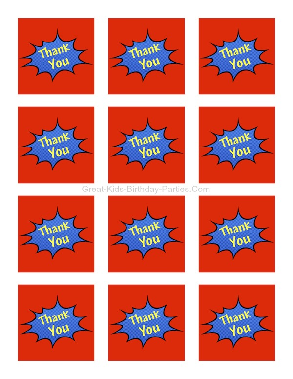 photo regarding Superhero Cupcake Toppers Printable named Superhero Printables