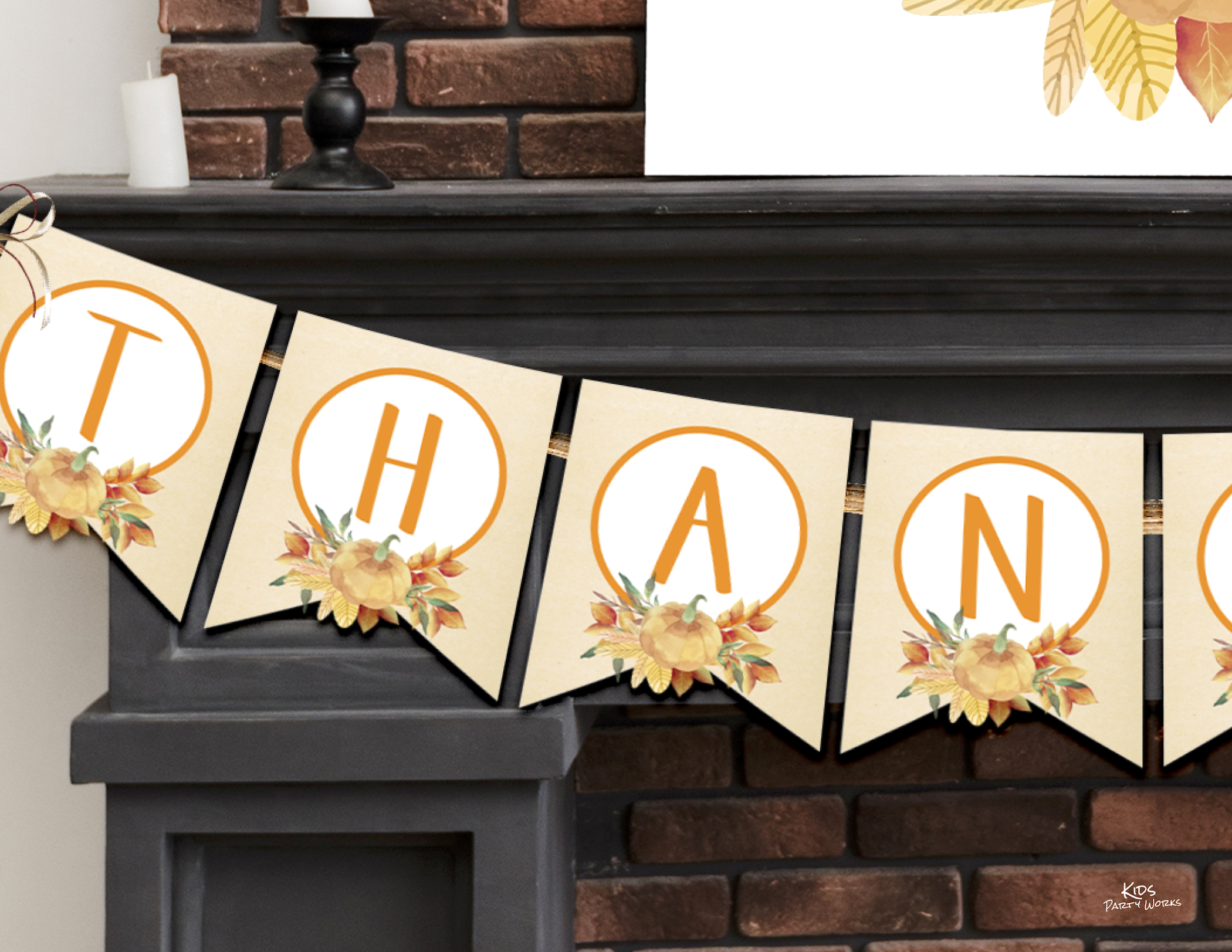 Free Thankful Banner by KidsPartyWorks.Com