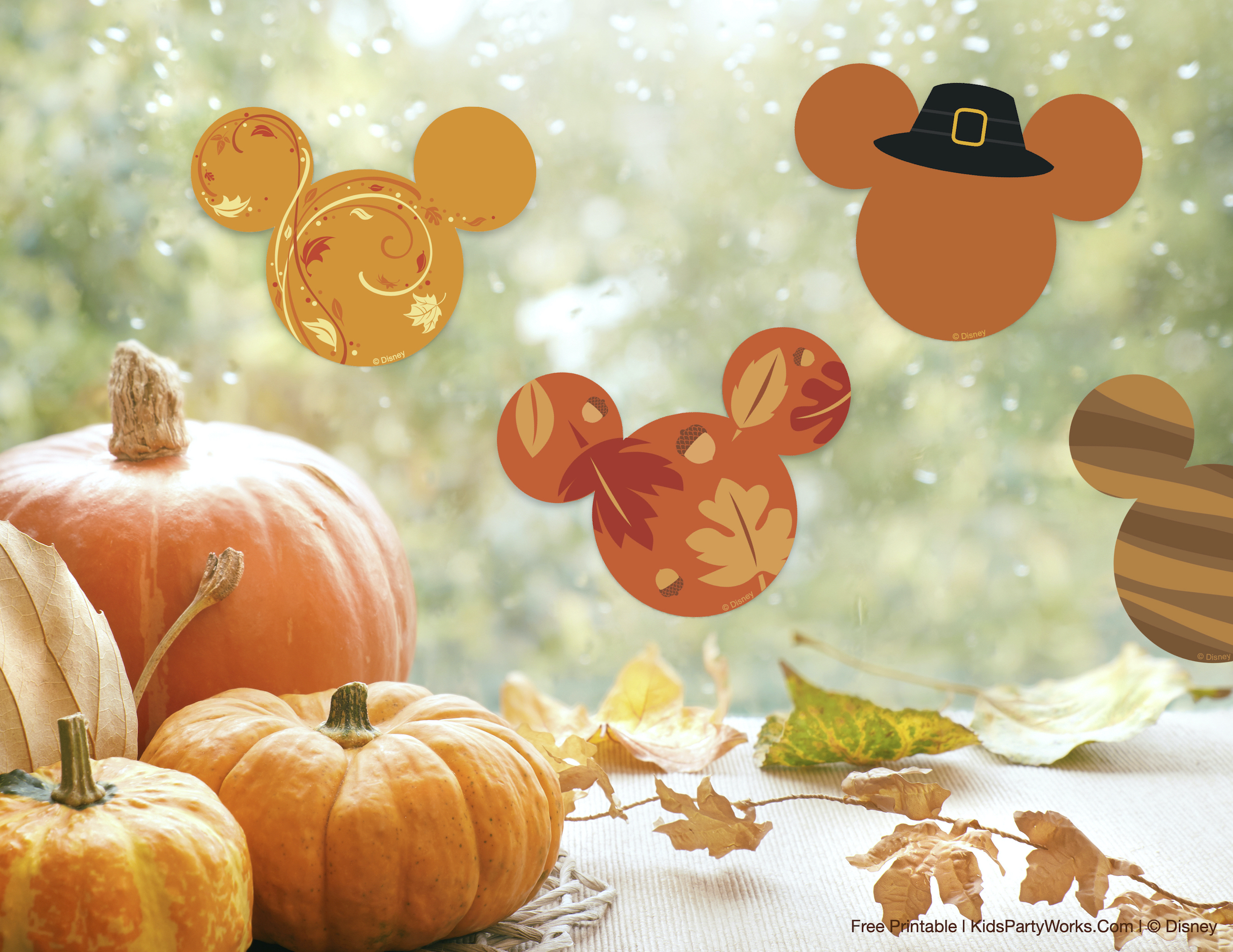 Mickey Thanksgiving Printables
