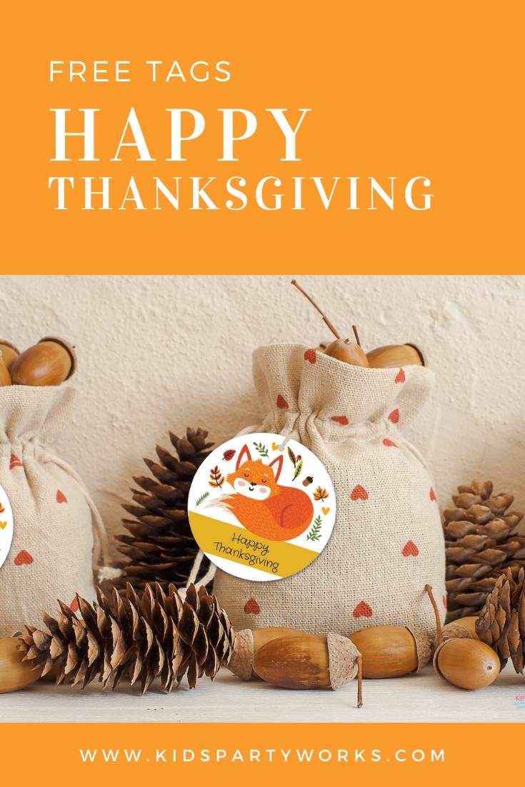 Free Thanksgiving Tags