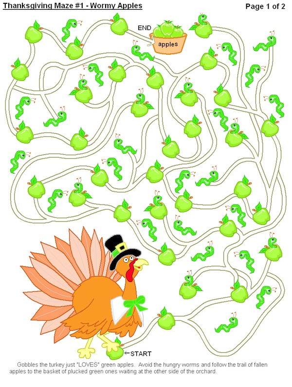 Printable Thanksgiving Maze