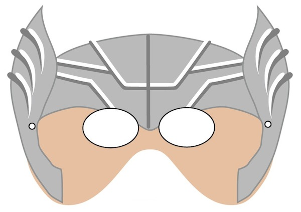 picture about Superhero Printable Mask named Printable Halloween Masks