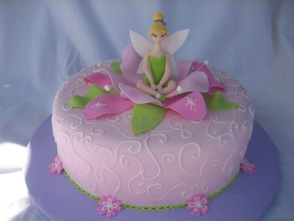 Pleasant Tinkerbell Birthday Cake Funny Birthday Cards Online Alyptdamsfinfo