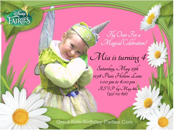 tinkerbell party invitation Baskanidaico
