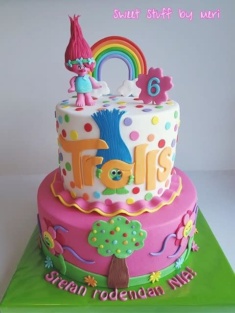 Trolls Movie Party Poppy Cake Topper Trolls Birthday Trolls Decor Trolls Word Banner Poppy Banner Trolls Banner