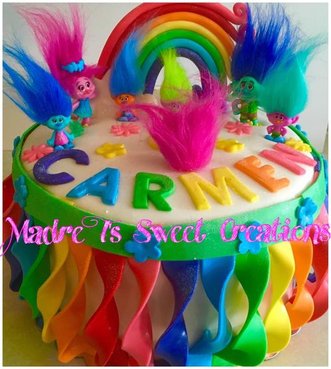 Troll Movie Cake Design