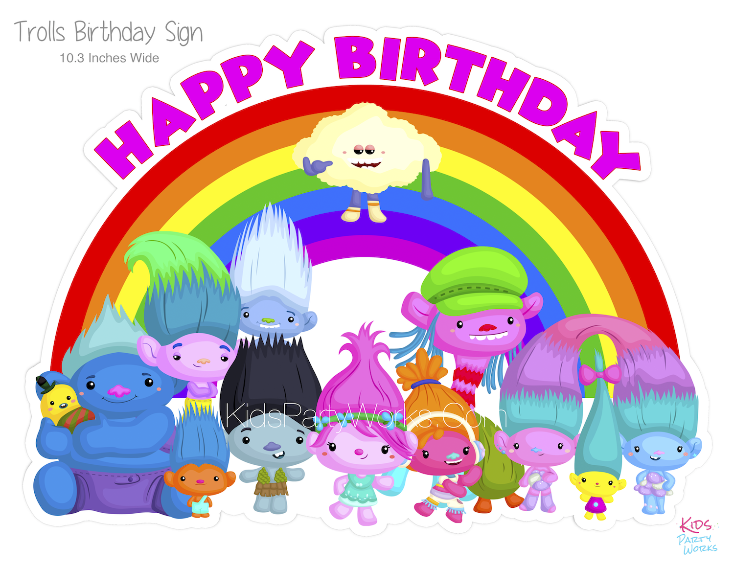 image regarding Printable Trolls Invitations referred to as Trolls Occasion