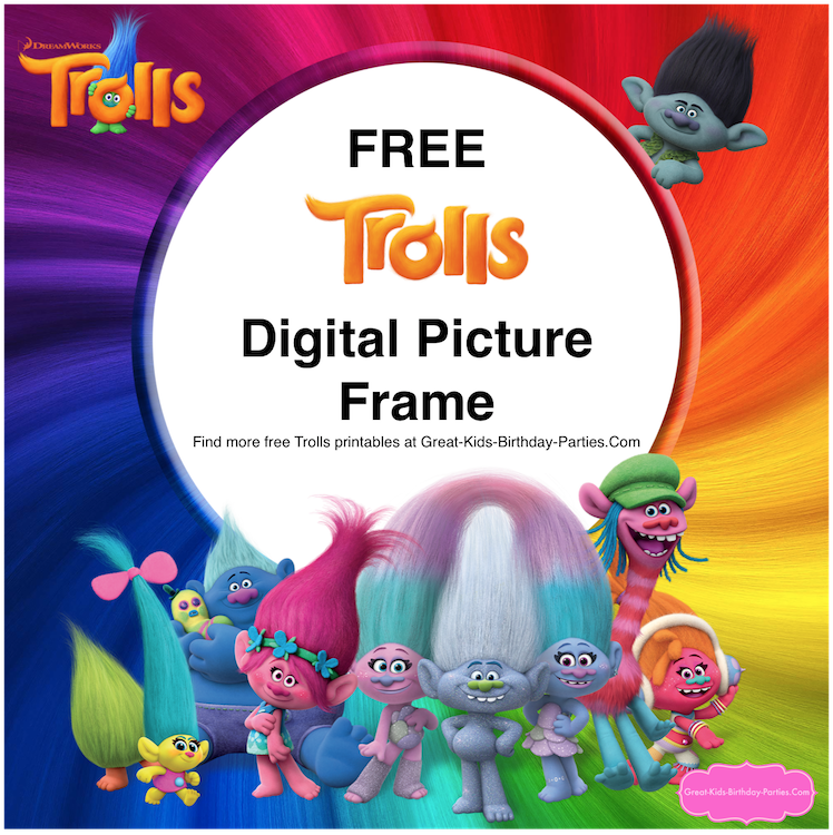 image about Free Printable Trolls Invitations named Trolls Social gathering