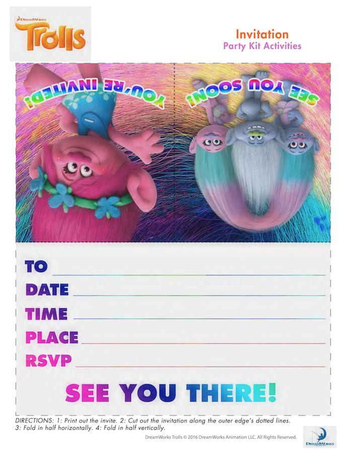 photo regarding Free Printable Trolls Invitations identified as Trolls Social gathering