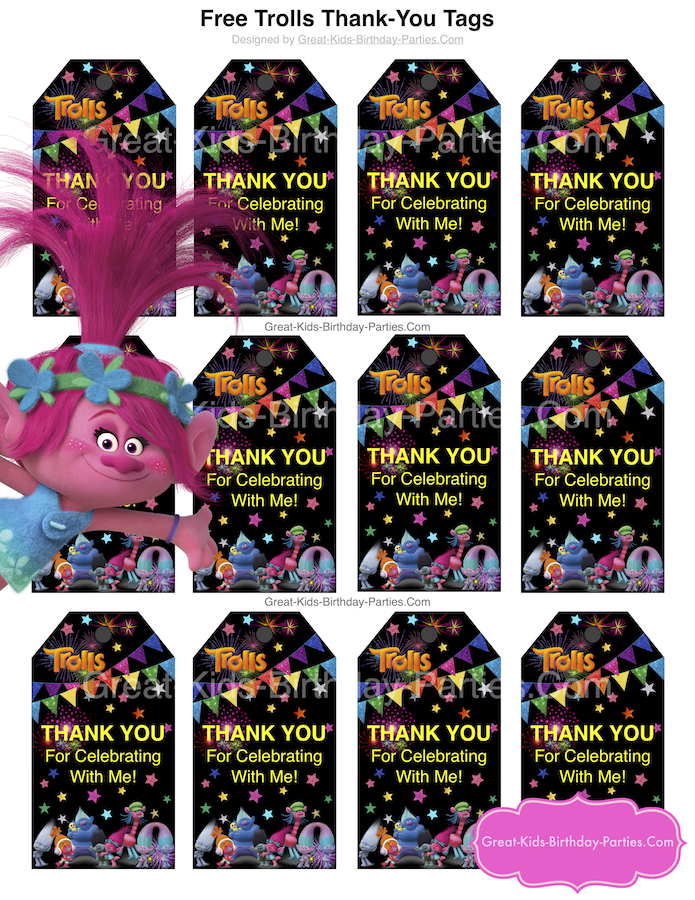 photo regarding Trolls Printable Invitations known as Trolls Social gathering