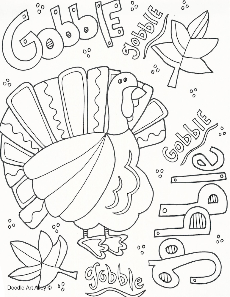 Thanksgiving turkey printable coloring page