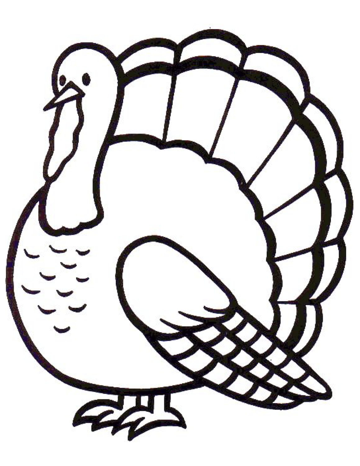 turkey printable coloring page