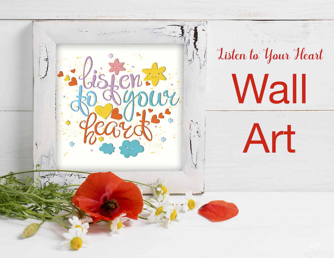 Free Valentine Wall Art - Find lots of free printables at KidsPartyWorks.Com