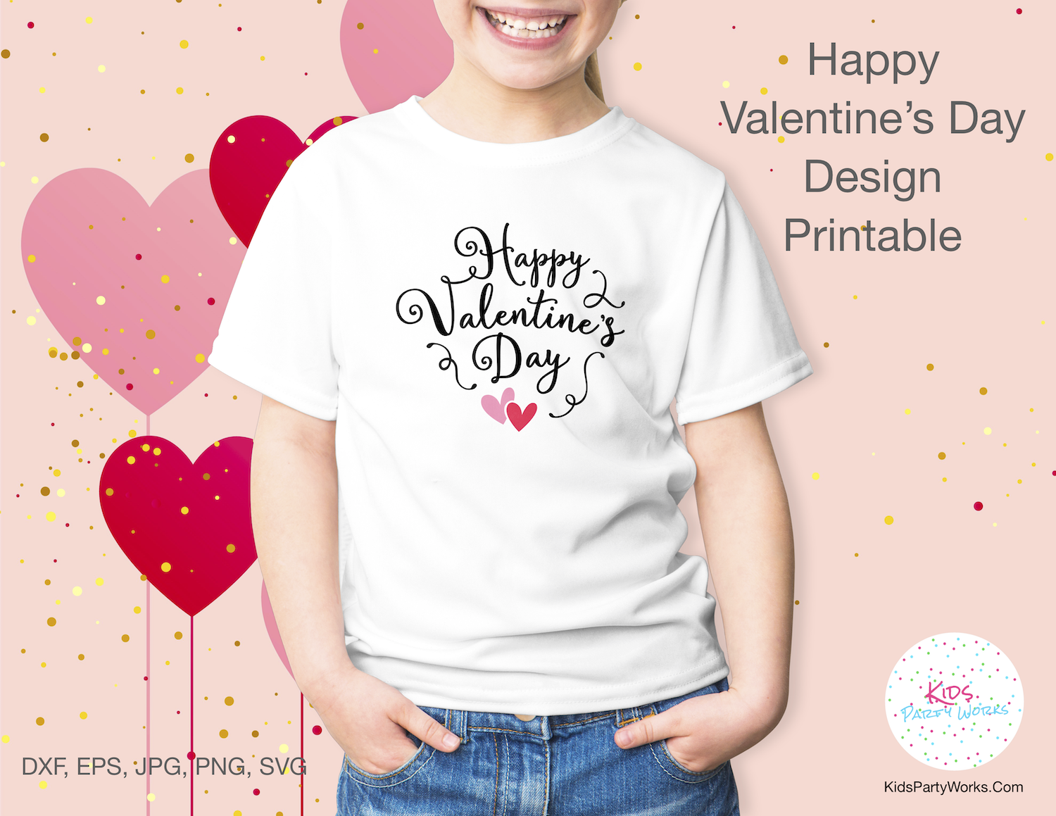Free Valentine Quote - Great for t-shirts, wall art and Valentine cards. Find lots of free printables at KidsPartyWorks.Com