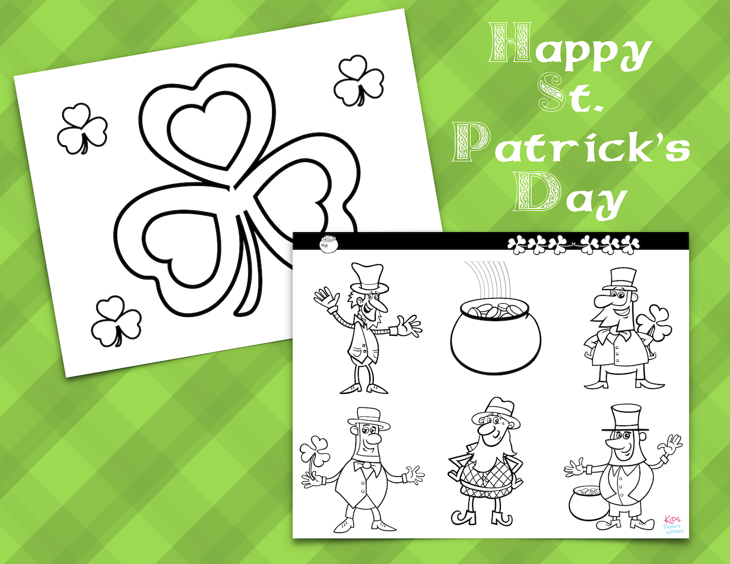 St. Patrick's Day Coloring Pages at KidsPartyWorks.Com
