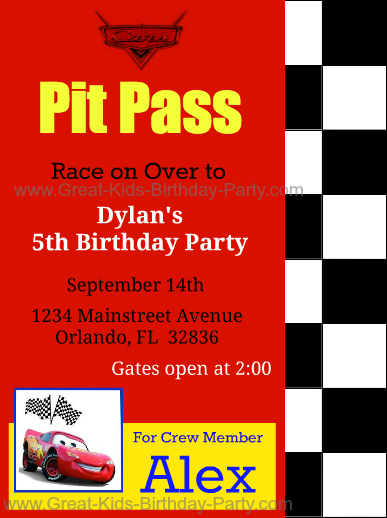 free printable cars invitations these invitations look custom ordered but theyre not