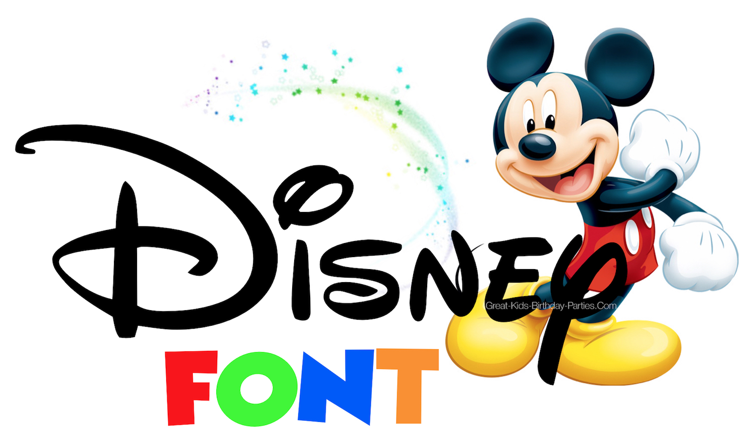 Disney fonts include lots of great free fonts and fun for Mickey invitations, Minnie invitations, Disney scrapbook, Mickey printables, Minnie printables, Mickey birthday party, Minnie birthday party.
